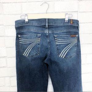 7 For All Mankind Dojo Jeans Medium Wass Size 28
